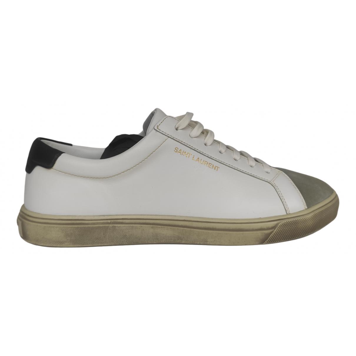 Saint Laurent SL/01 Sneakers in  Weiss Leder