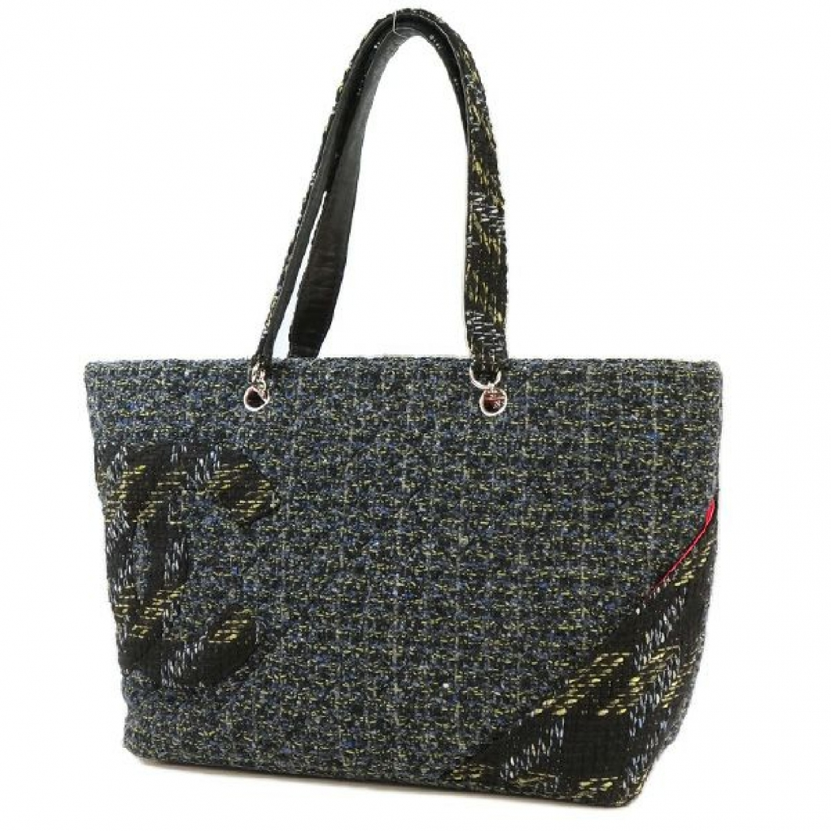 Chanel Cambon Blue Tweed handbag for Women \N