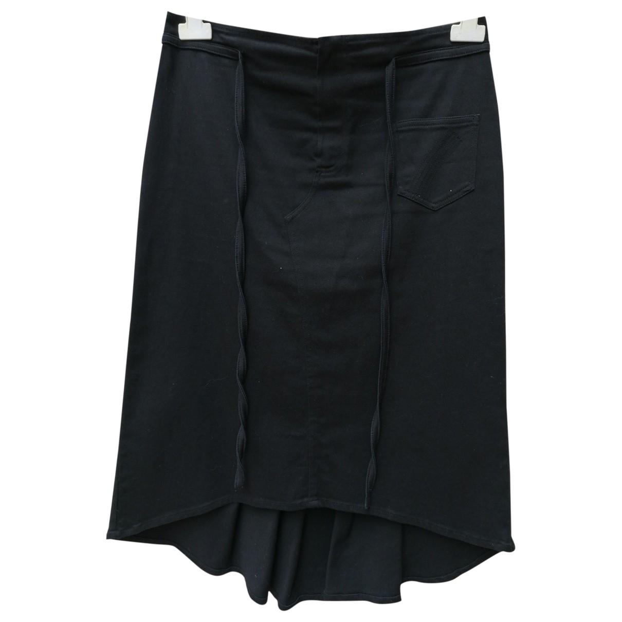 John Richmond - Jupe   pour femme en coton - noir