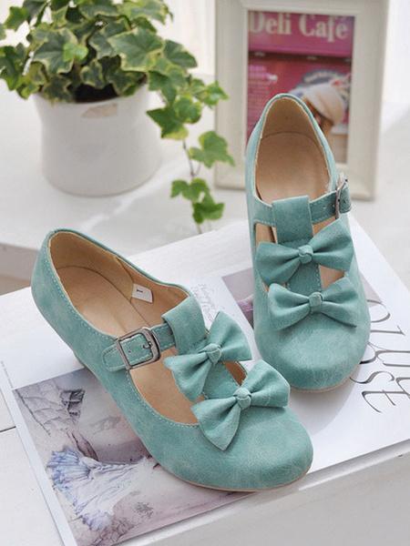 Milanoo Sweet Lolita Footwear Bows Prism Heel Lolita Pumps