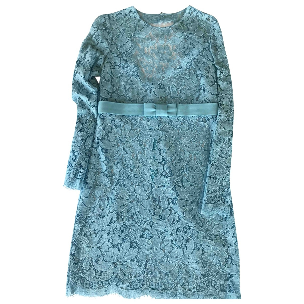 Emilio Pucci \N Blue Lace dress for Women 44 IT