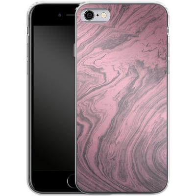 Apple iPhone 6s Silikon Handyhuelle - Pink Marble von Emanuela Carratoni