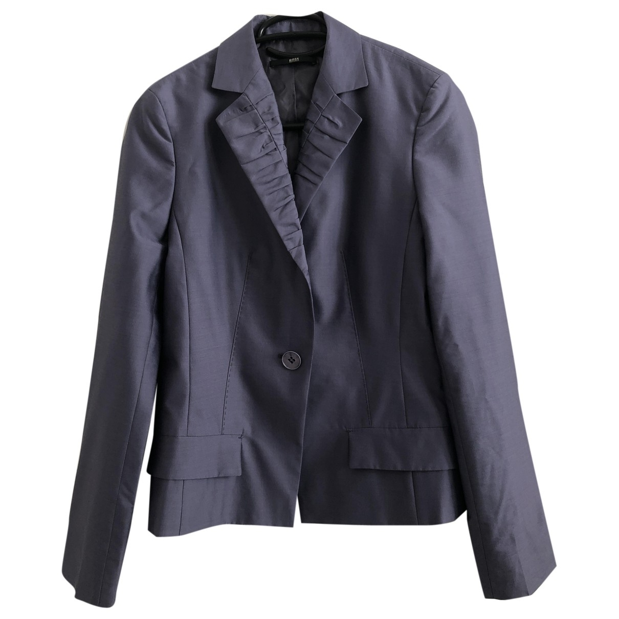 Boss - Veste   pour femme en laine - violet