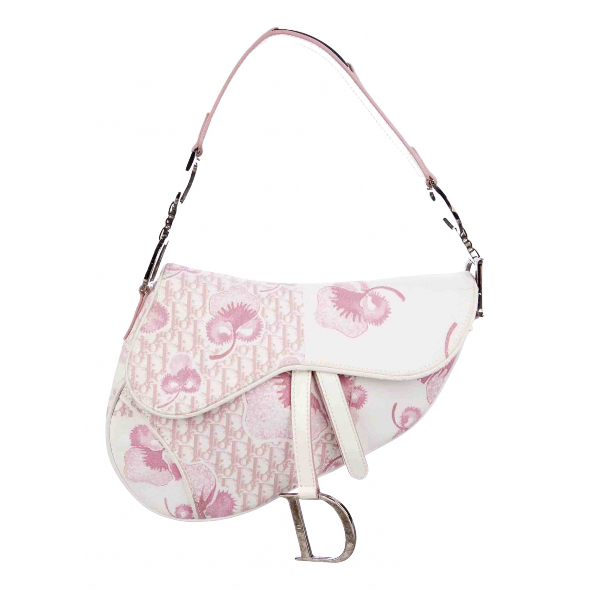 Dior - Sac a main Saddle pour femme en cuir verni - rose