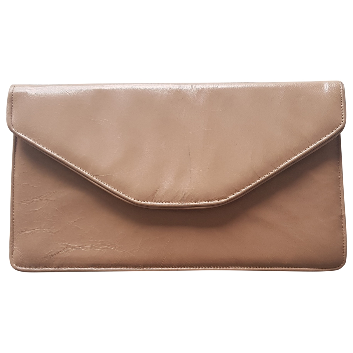 Non Signé / Unsigned \N Beige Leather Clutch bag for Women \N