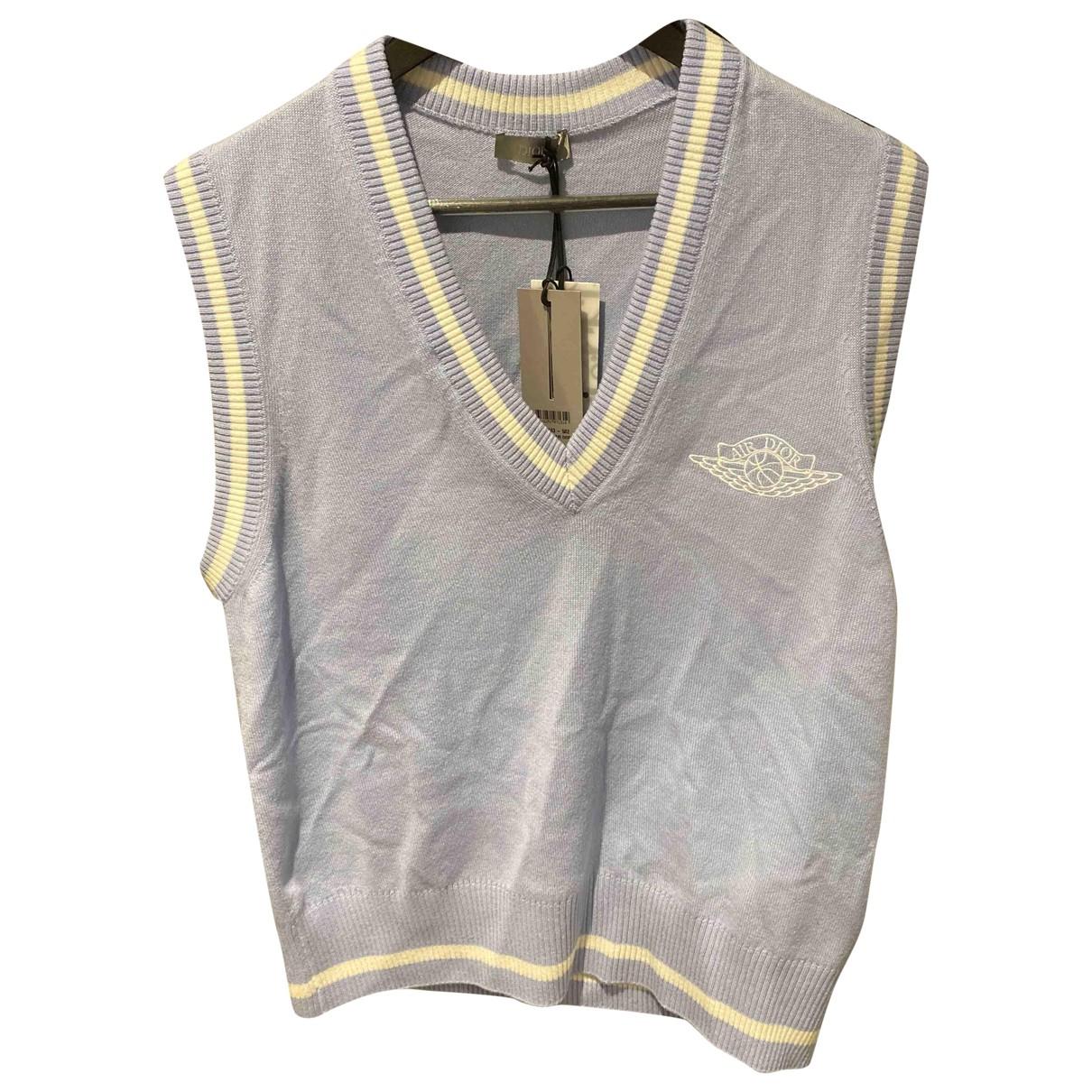 Jordan X Dior - Pulls.Gilets.Sweats   pour homme en cachemire - bleu