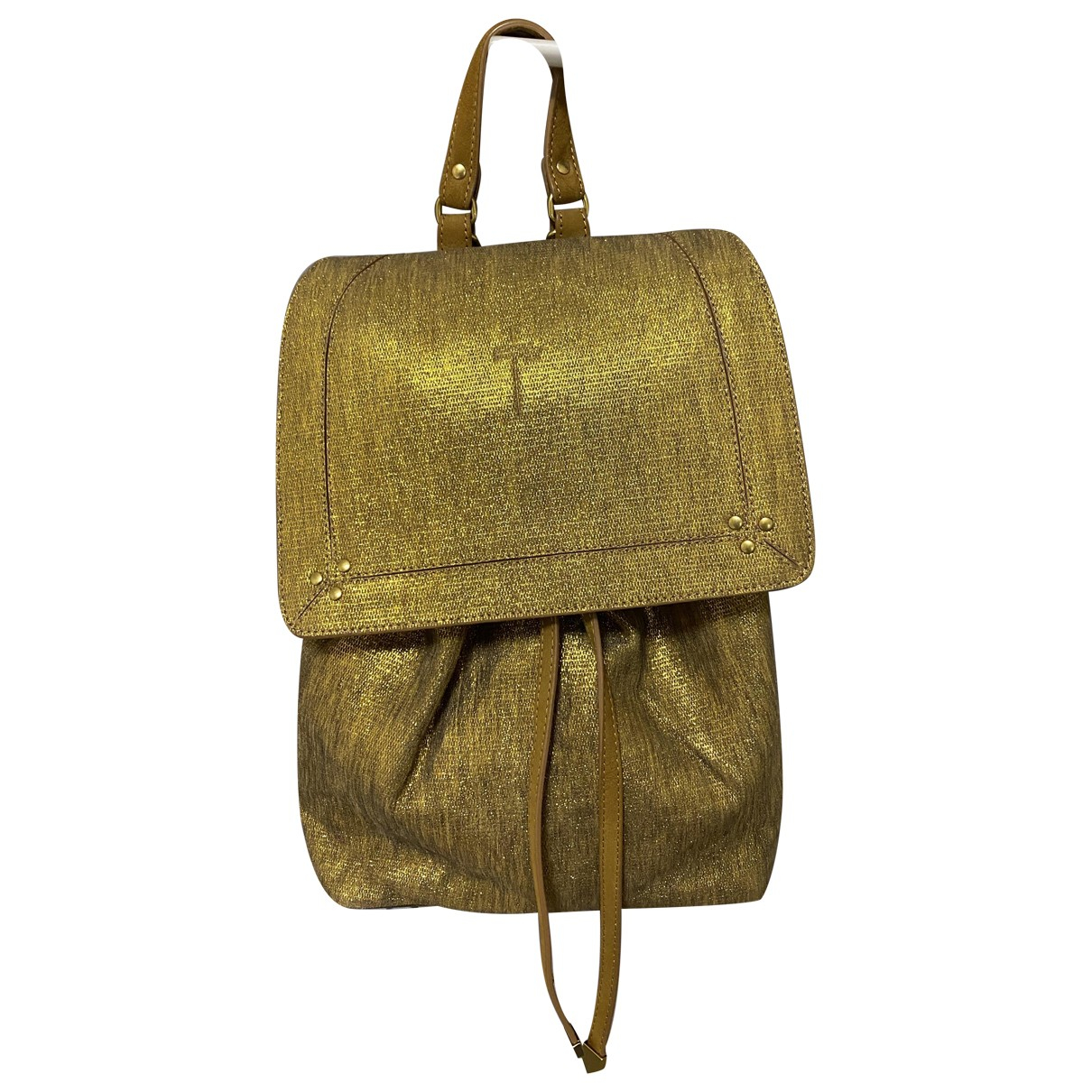 Jerome Dreyfuss \N Gold Glitter backpack for Women \N