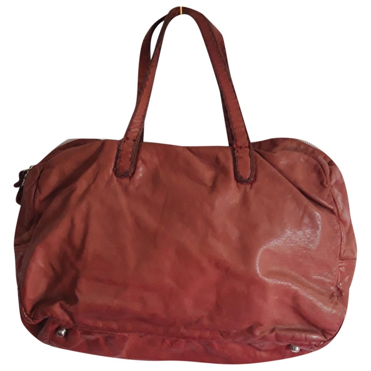 Maison Martin Margiela \N Burgundy Leather handbag for Women \N