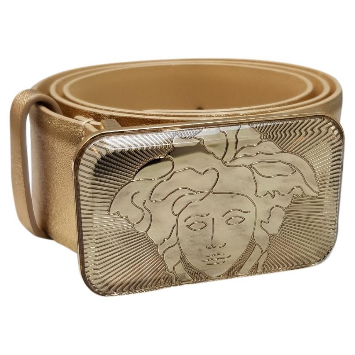Versace \N Guertel in  Gold Leder