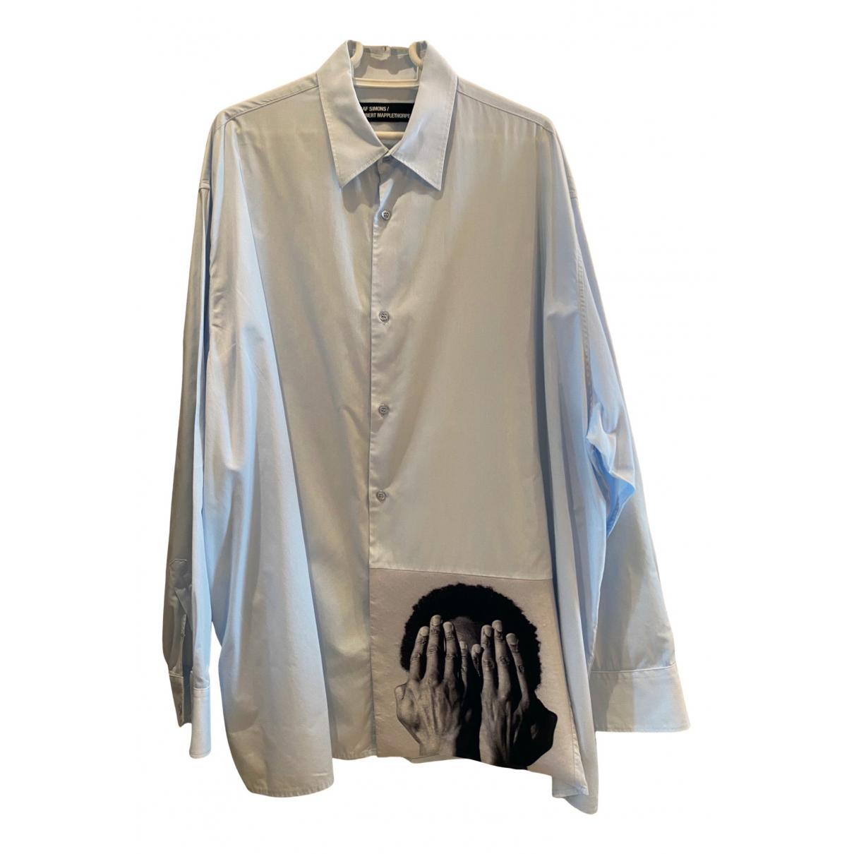 Raf Simons - Chemises   pour homme en coton - bleu