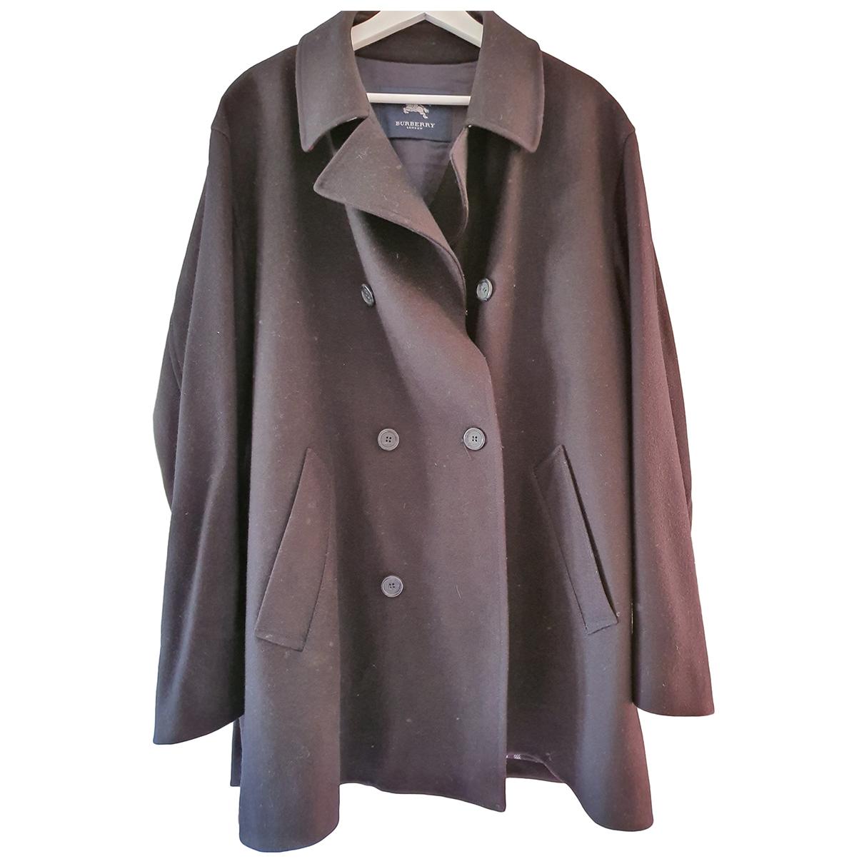 Burberry \N Navy Wool coat  for Men XL International