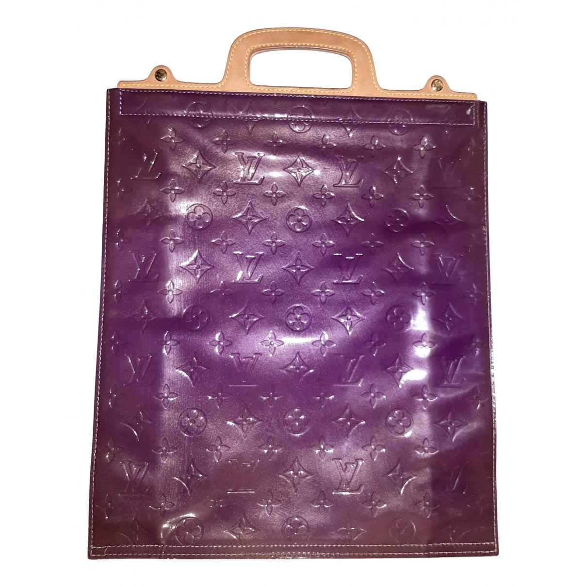 Louis Vuitton Plat Purple Patent leather handbag for Women N