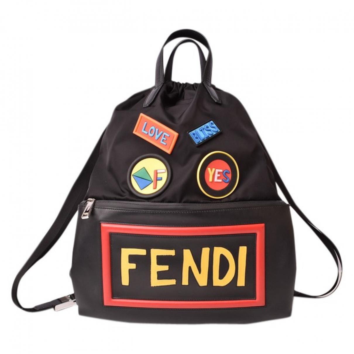 Fendi \N Black Cloth backpack for Women \N