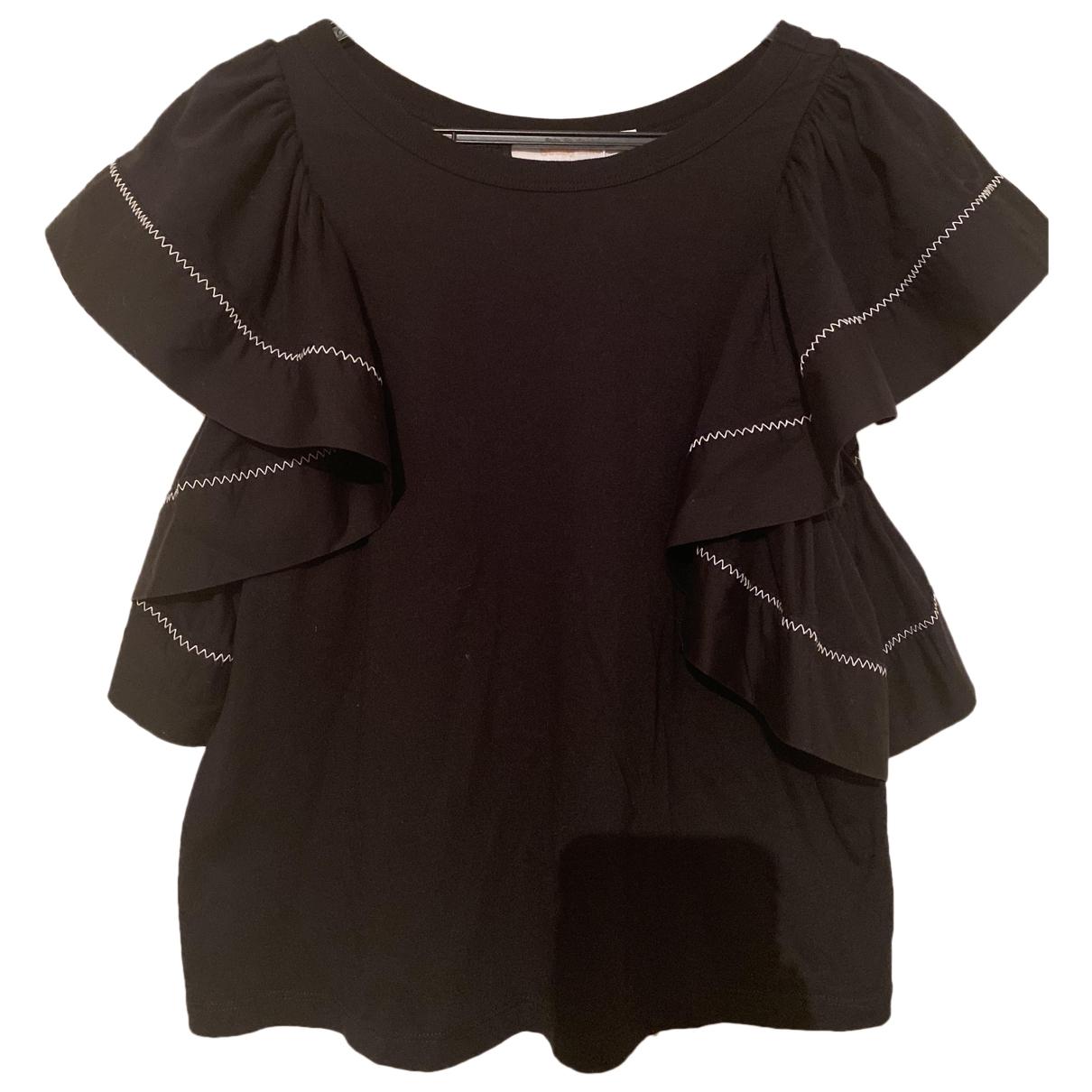 See By Chloe - Top   pour femme en coton - noir