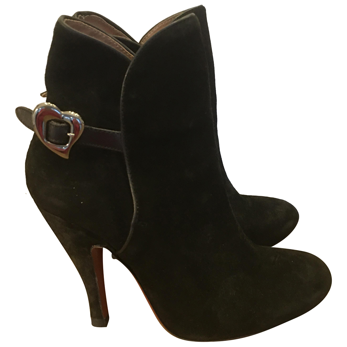 Vivienne Westwood \N Black Leather Ankle boots for Women 38 EU