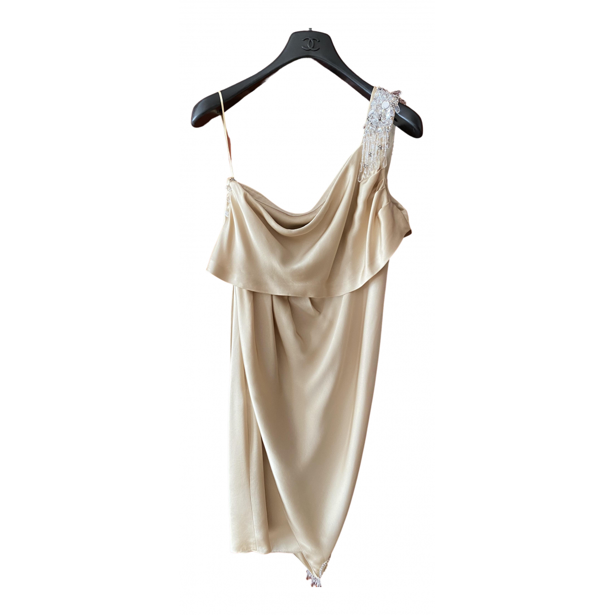 Chanel \N Beige Silk dress for Women 38 FR