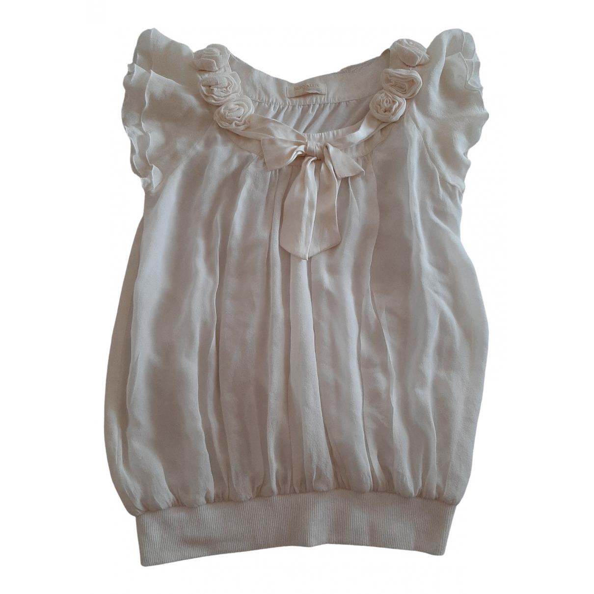 Monnalisa - Top   pour femme en soie - blanc