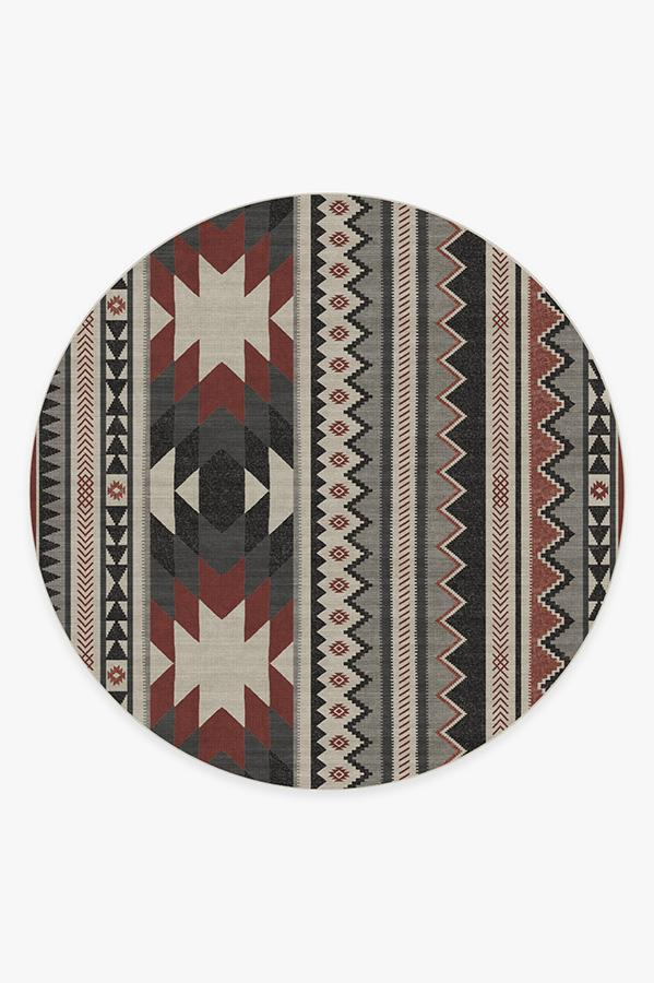 Washable Rug Cover | Yuma Sumac Rug | Stain-Resistant | Ruggable | 8 Round