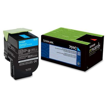 Lexmark 701C 70C10C0 Original Cyan Return Program Toner Cartridge