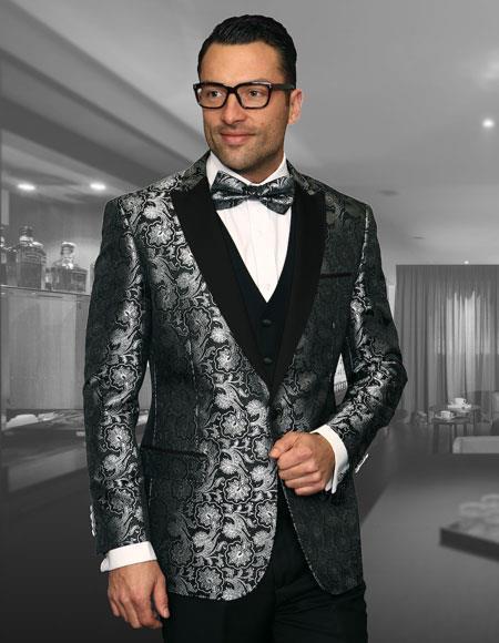 Mens Cheap Fashion big and tall Plus Size Blazer For Guys Black