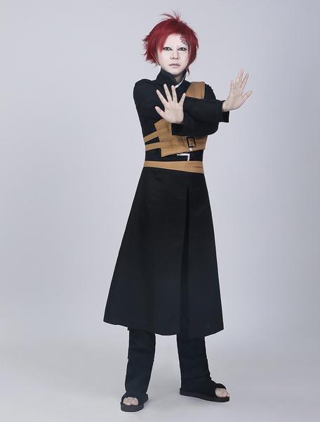 Milanoo Halloween Naruto Sabakuno Gaara Halloween Cosplay Disfraz