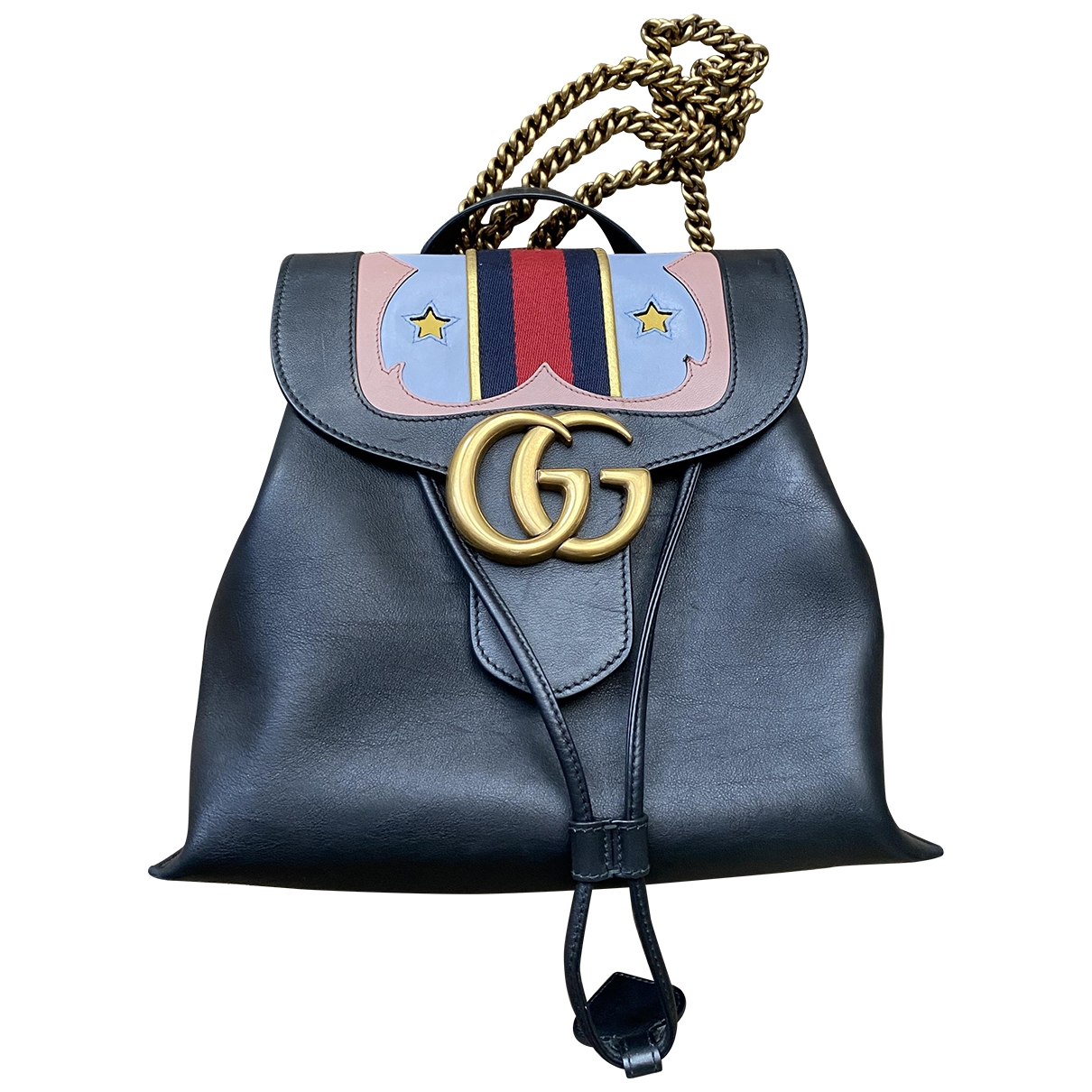 Gucci Marmont Black Leather backpack for Women \N