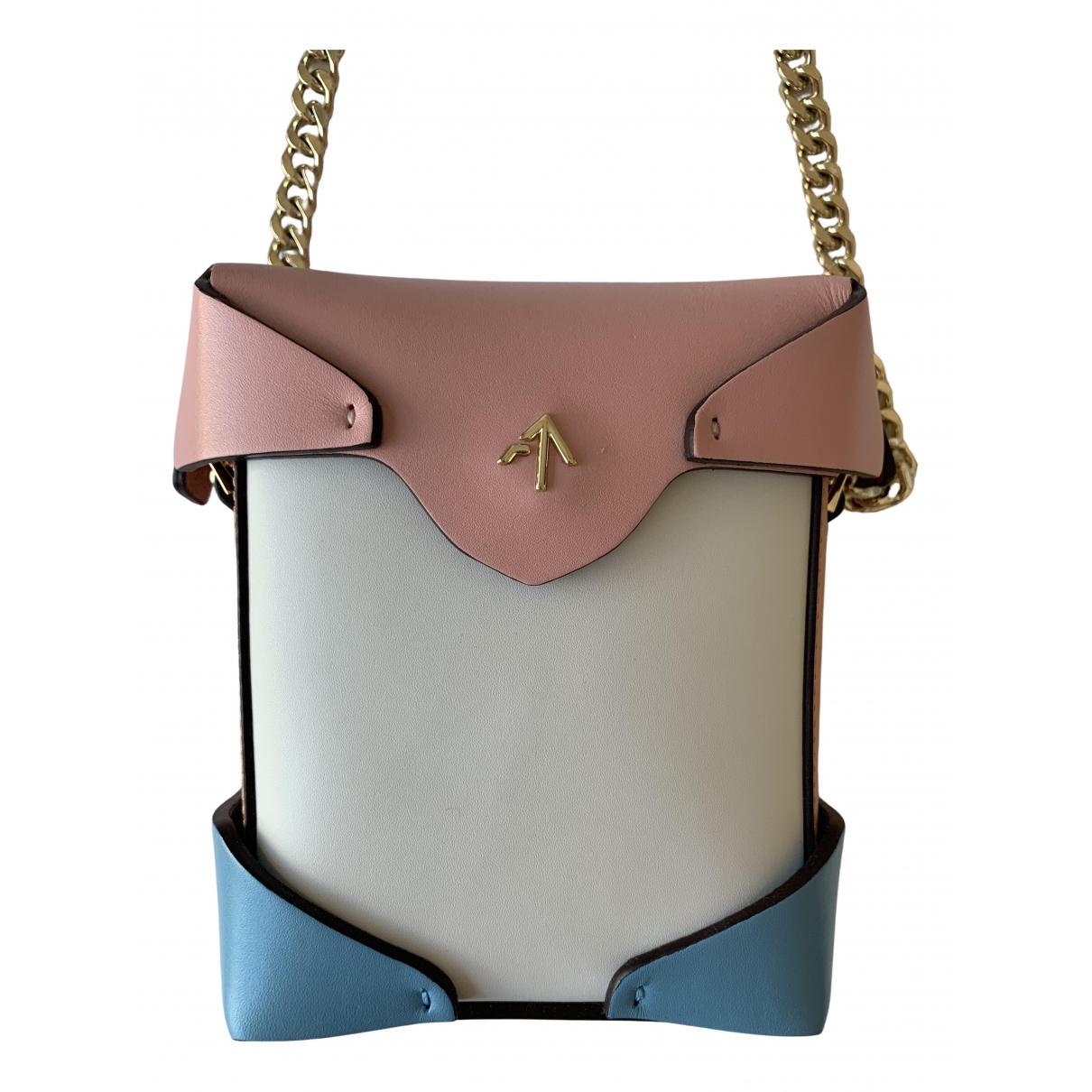 Manu Atelier \N Handtasche in  Bunt Leder
