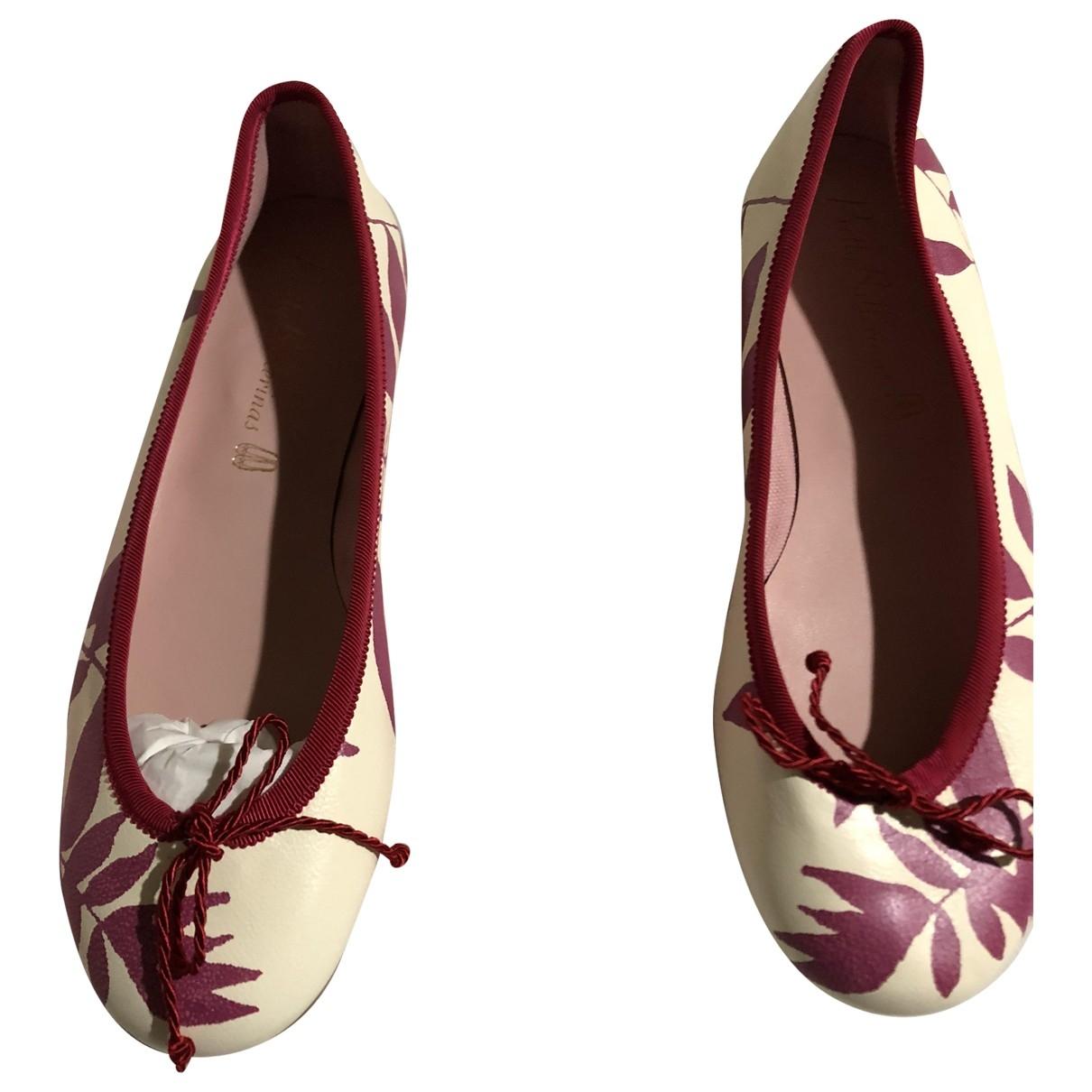 Pretty Ballerinas - Ballerines   pour femme en cuir - rouge
