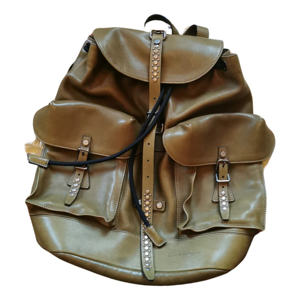 Salvatore Ferragamo N Khaki Leather bag for Men N
