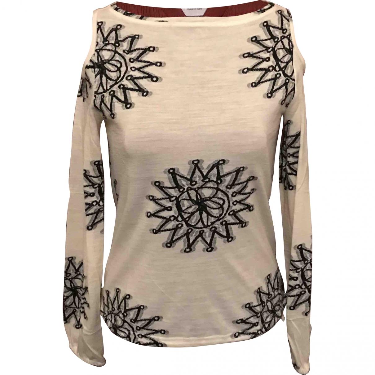 Mariella Rosati - Pull   pour femme en laine - blanc