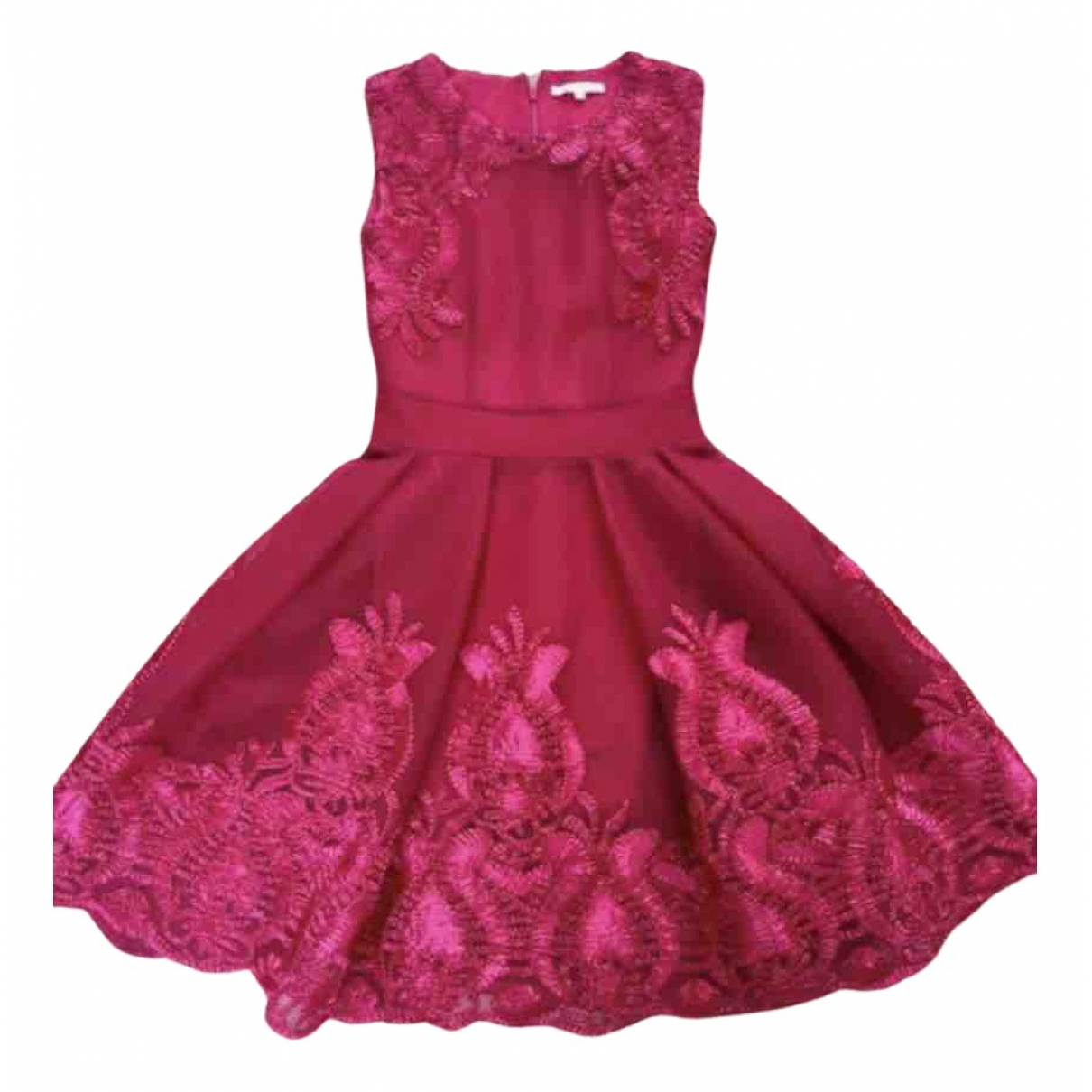 Maje Spring Summer 2019 Pink Lace dress for Women 36 FR