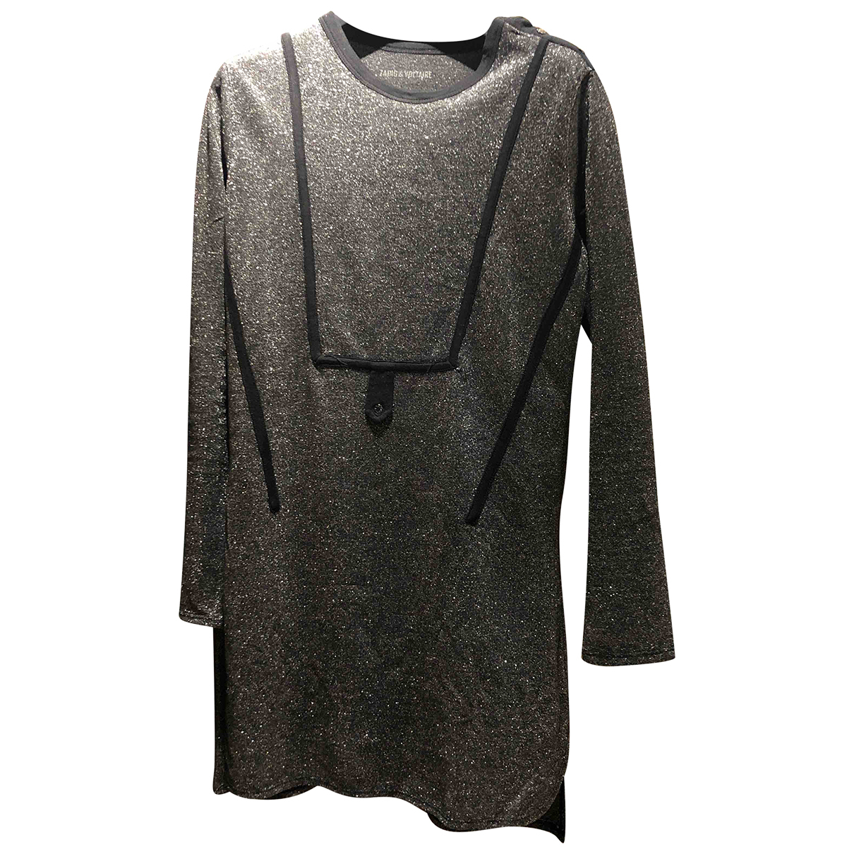 Zadig & Voltaire N Silver dress for Women 36 FR