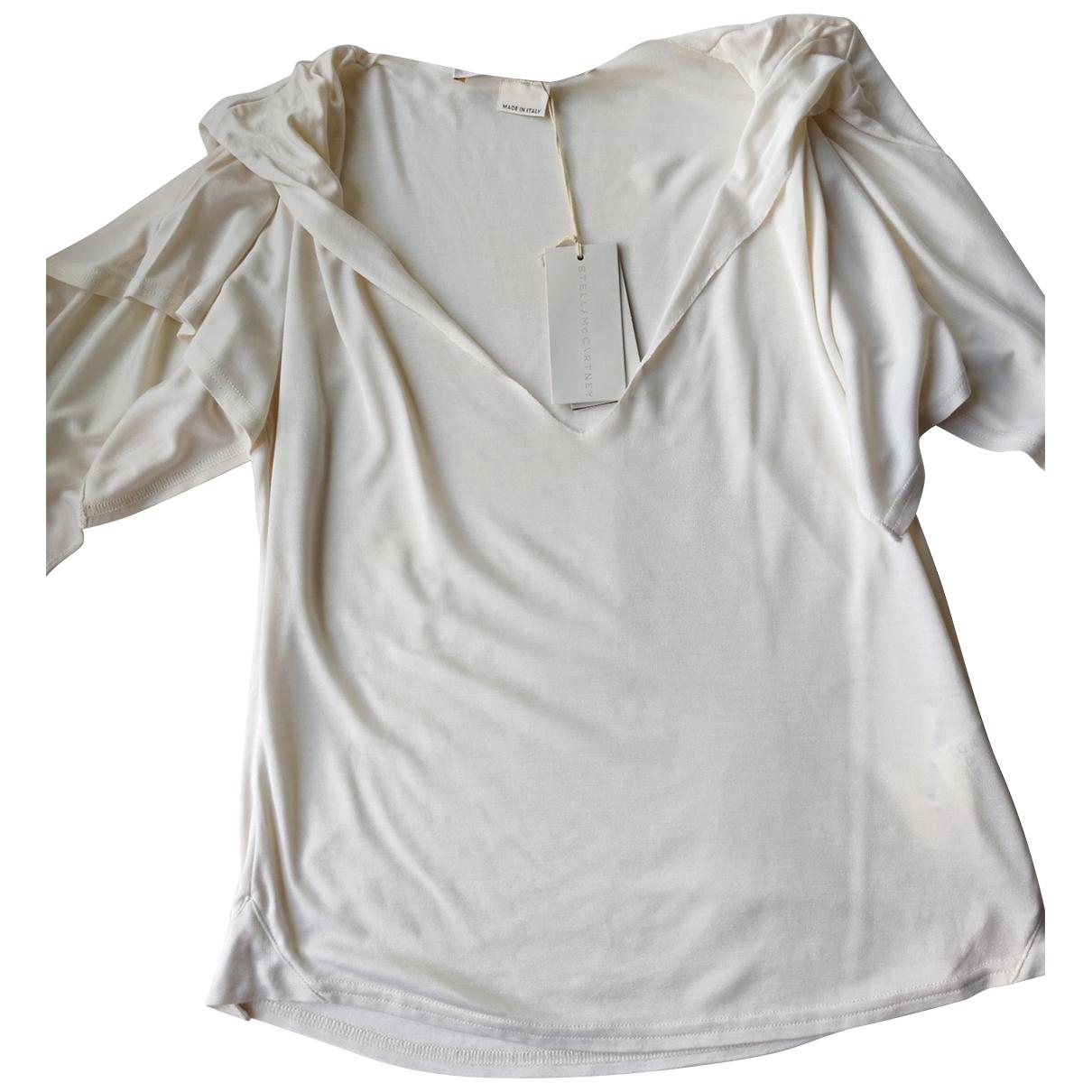 Stella Mccartney - Top   pour femme en soie - ecru