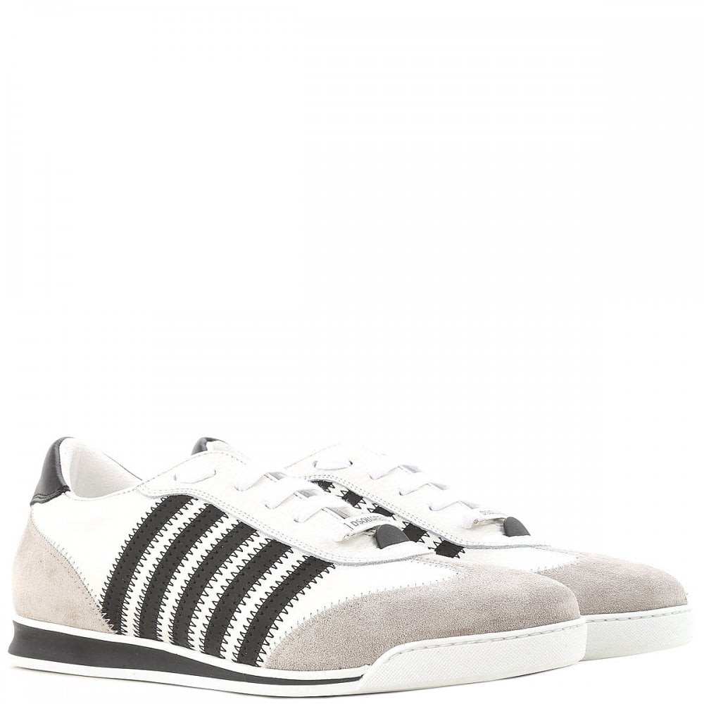 DSquared2 Multi-Stripe New Runner Trainers Colour: WHITE, Size: 7