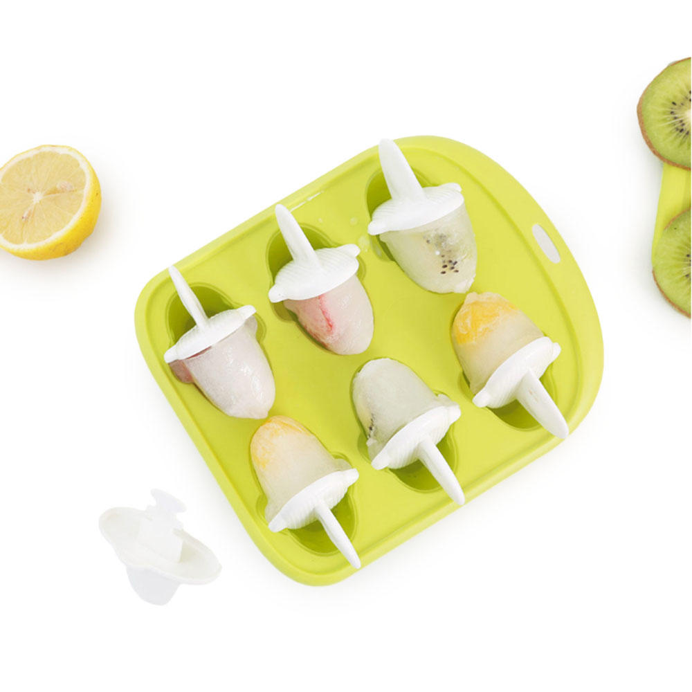 QUANGE LS010102 Home Kitchen Ice Cube Tray Little Whale Shape Ice Mold 6 Hole Food Grade Pudding Mold from xiaomi youpin