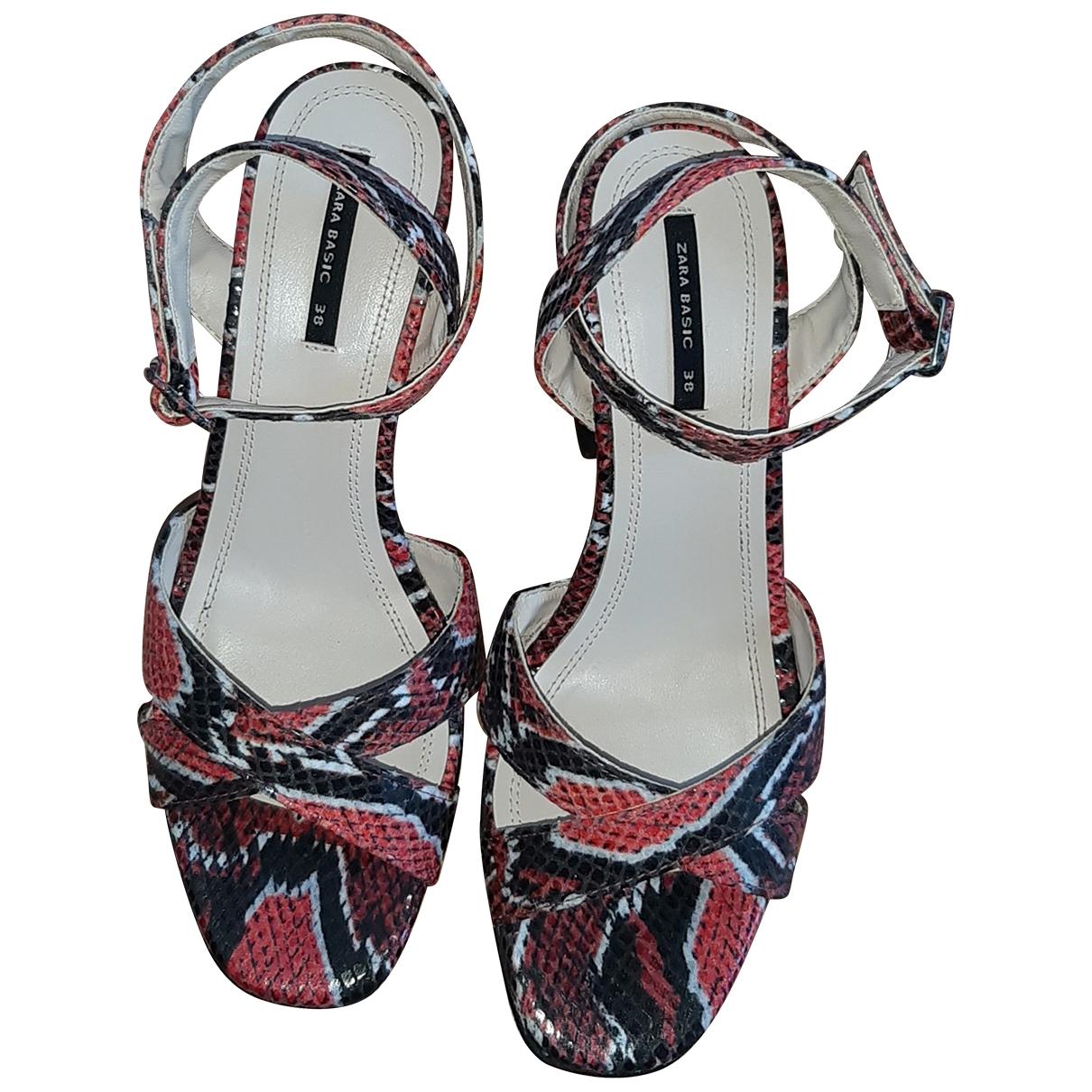 Zara \N Red Sandals for Women 38 EU