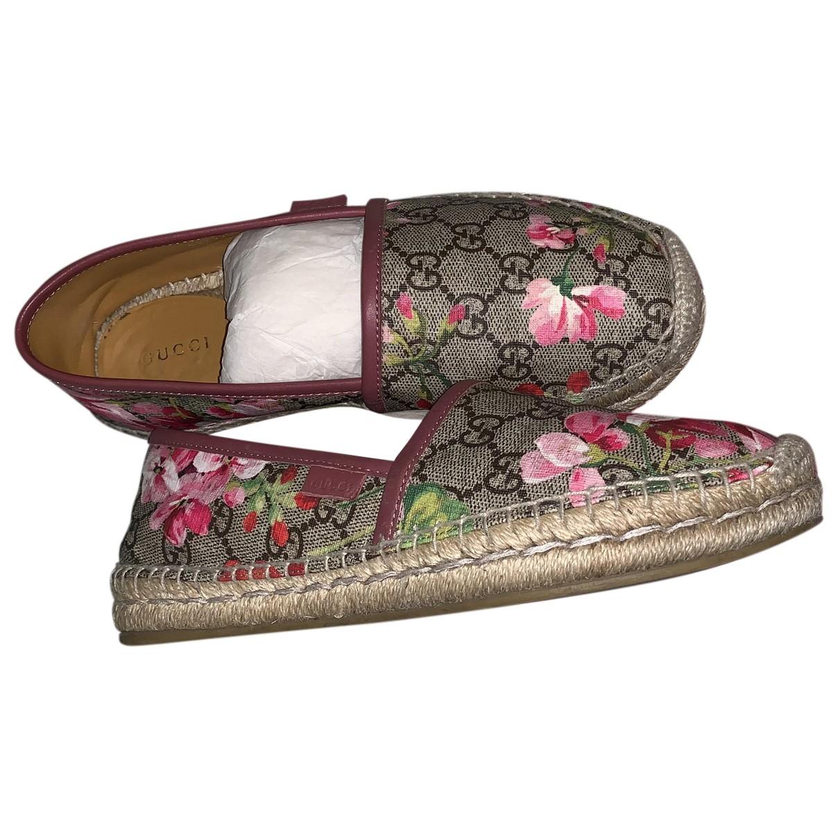Gucci \N Espadrilles in  Rosa Leinen