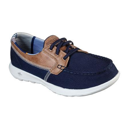 Skechers Go Walk Lite - Playa Vista Womens Walking Shoes, 6 Medium, Blue