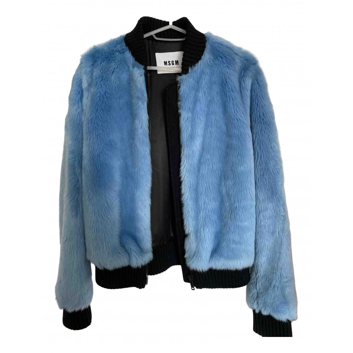 Msgm \N Blue Faux fur jacket for Women 8 UK