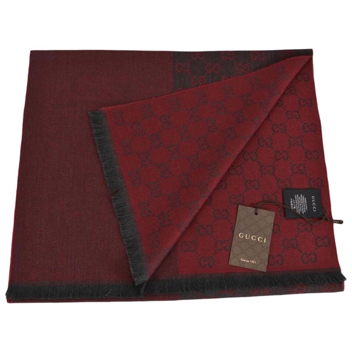 Gucci - Cheches.Echarpes   pour homme en laine - rouge