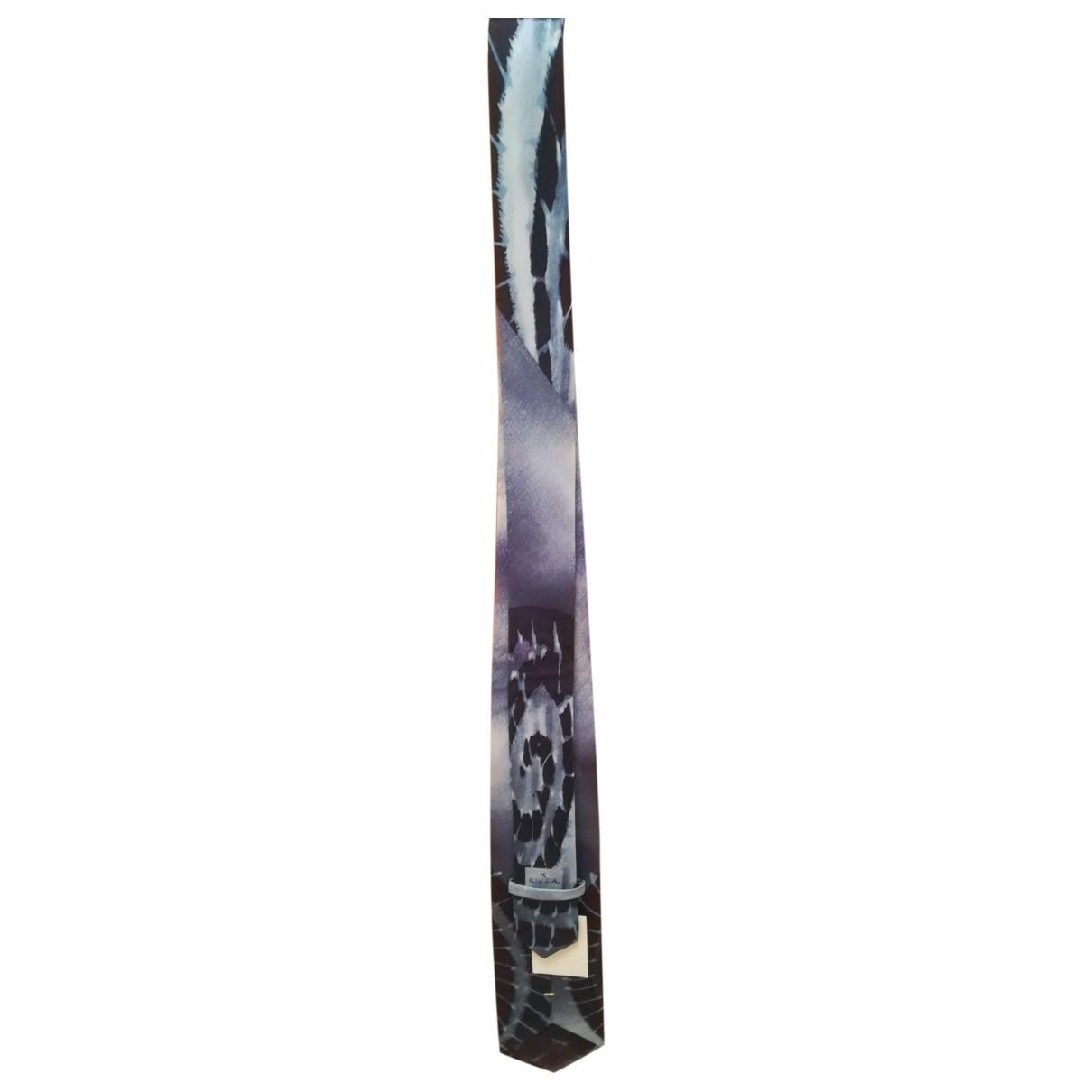 Krizia - Cravates   pour homme en soie - bleu