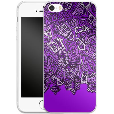 Apple iPhone 5s Silikon Handyhuelle - Violet Black von Mattartiste
