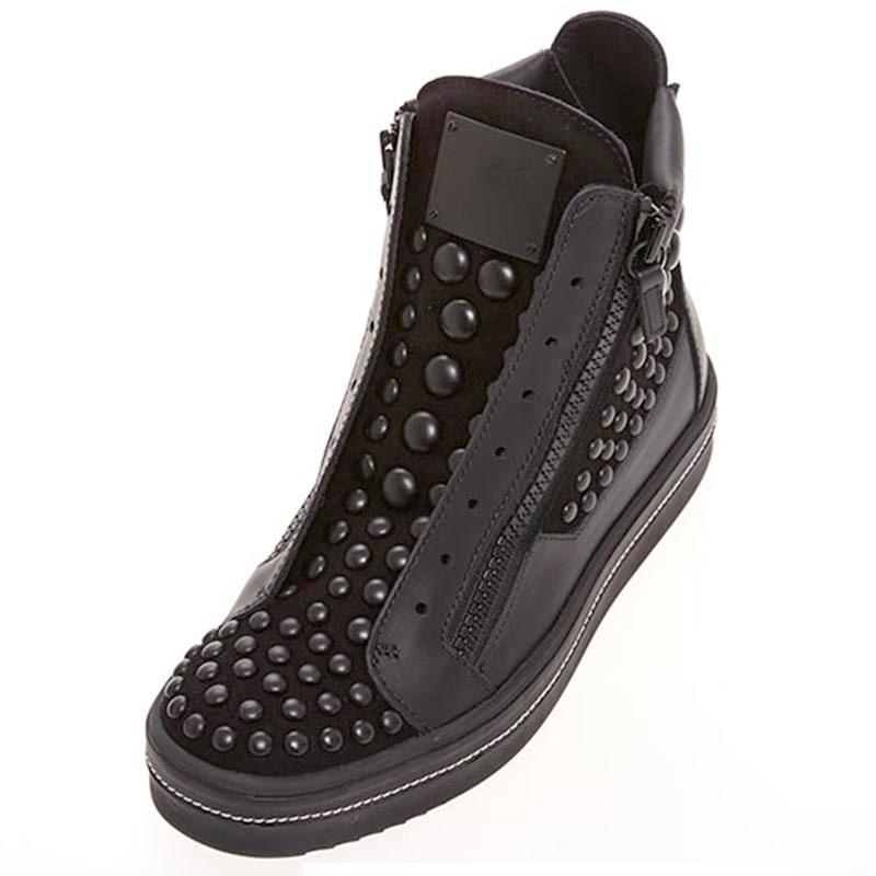 Ericdress Rivet Side Zipper Plain Men's Boots