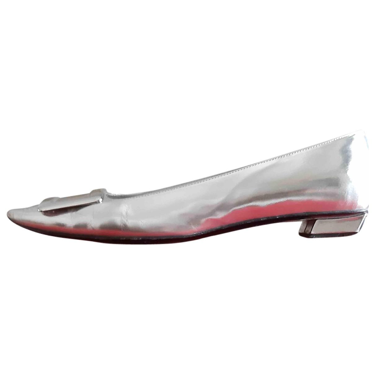 Roger Vivier \N Ballerinas in  Metallic Leder