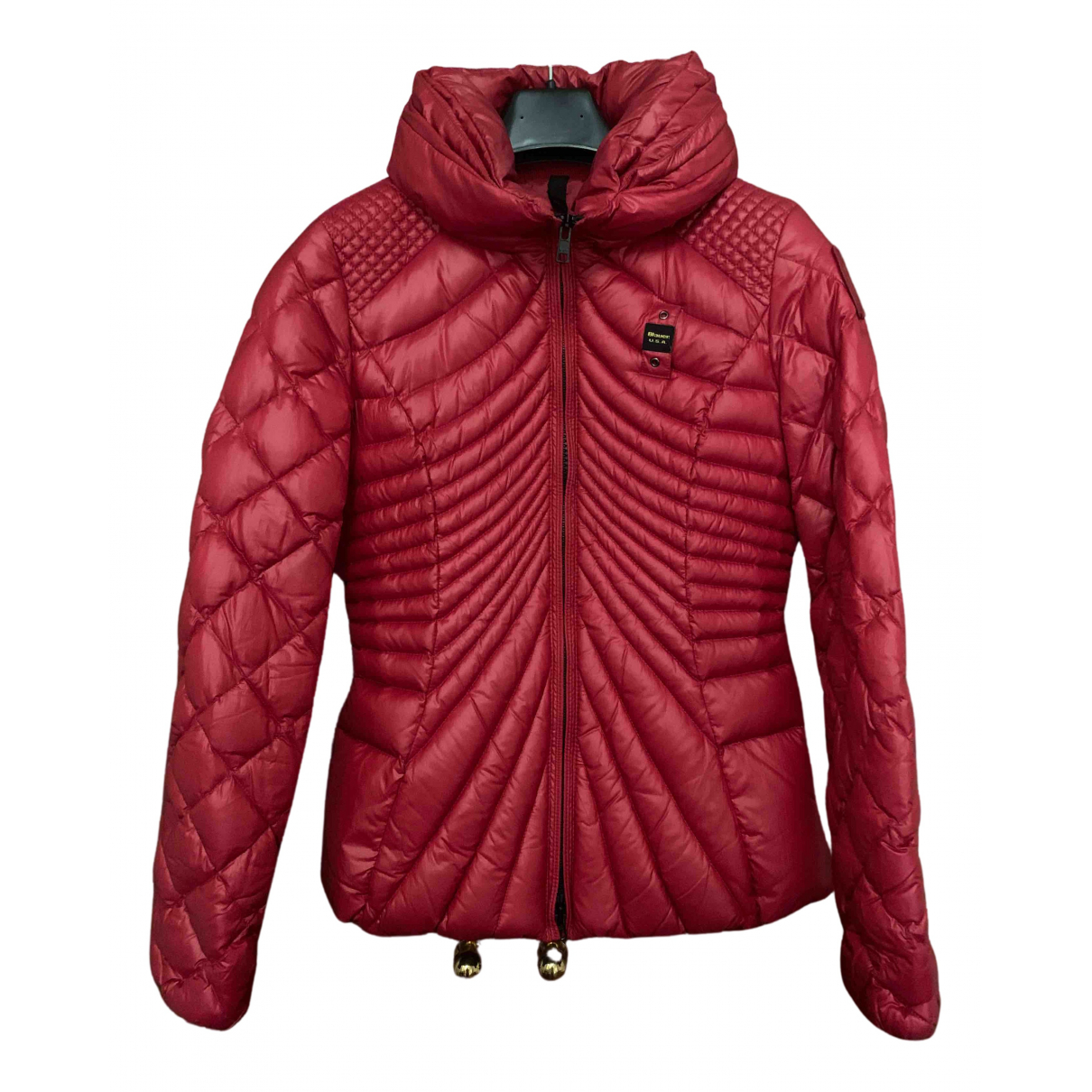 Blauer \N Maentel in  Rot Polyester