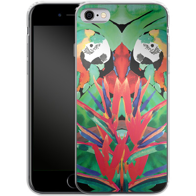Apple iPhone 6s Silikon Handyhuelle - Parrot von Amy Sia