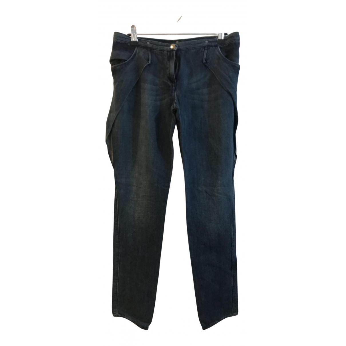 Nina Ricci - Jean   pour femme en coton - bleu