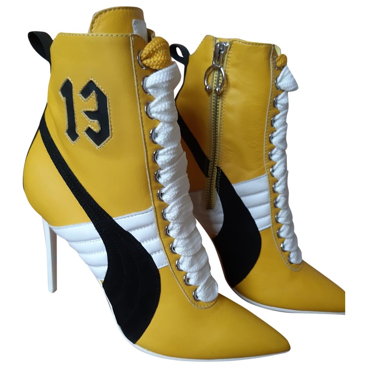 Fenty X Puma \N Stiefeletten in  Gelb Leder