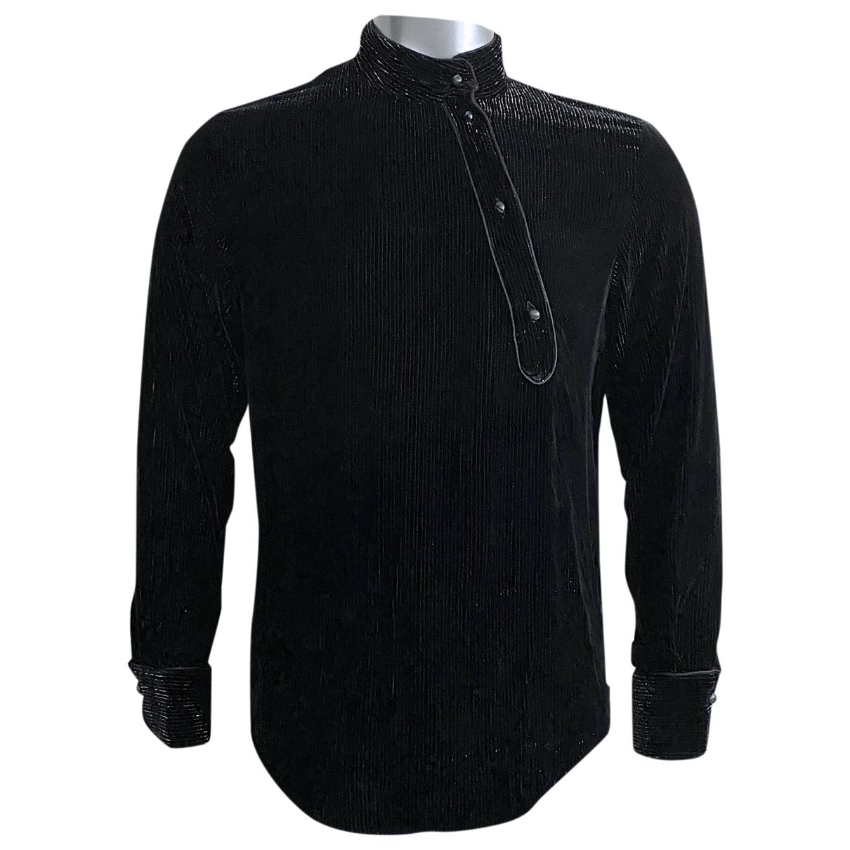 Emporio Armani - Chemises   pour homme en velours - noir