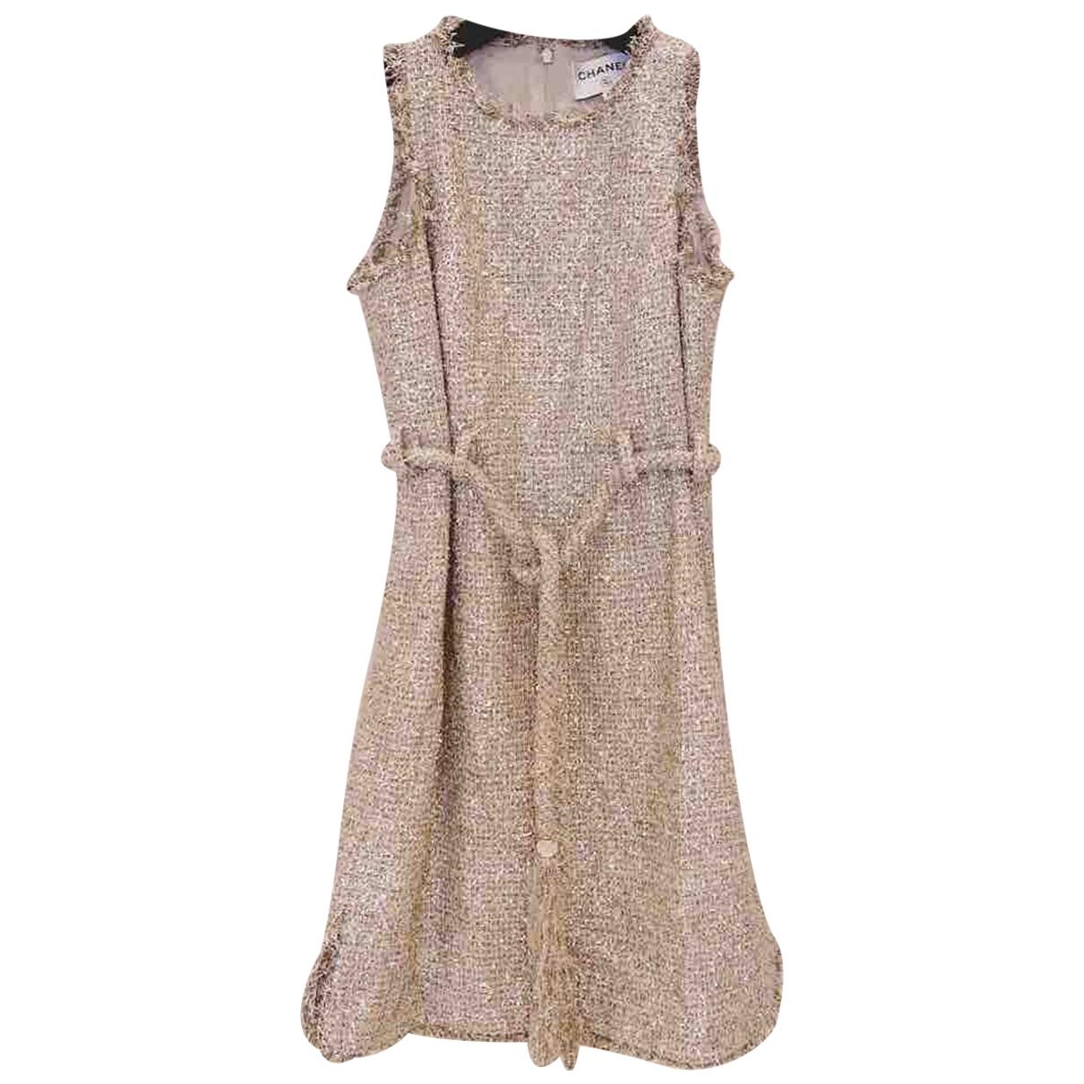 Chanel \N Kleid in  Gold Baumwolle